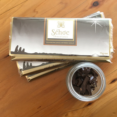 Frankincense, Myrrh, & Gold Dark Tablet (75g)