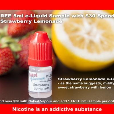 FREE 5ml e-Liquid Sample* - Strawberry Lemonade