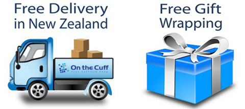 Free Shipping in New Zealand from On the Cuff