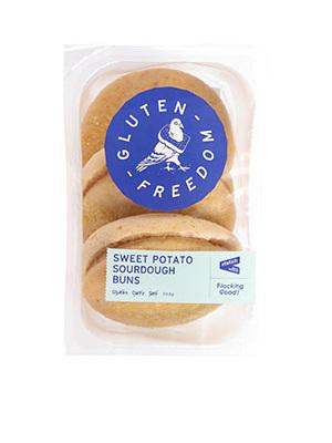 Freedom GF Sweet Potato Sourdough Buns - 3 pack