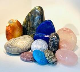 Freeform, polished, thumb/palm stones