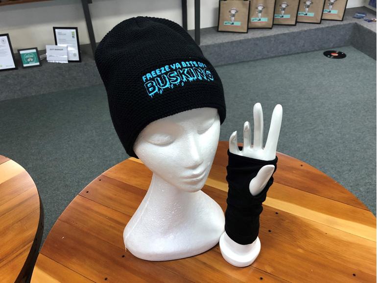 Freeze Ya Bits Off Busking Beanie & Hand Warmer Package