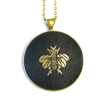 French Bee Pendant and Earrings
