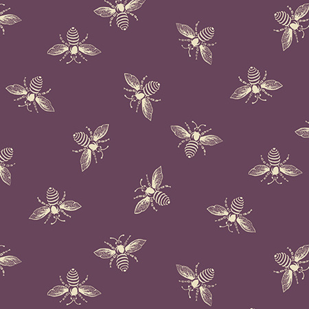 French Bee Ripe Plum Bees A-9084-P2