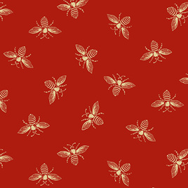 French Bees Red 9084