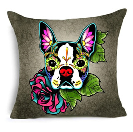 French Bulldog Colourful Dog Cushion Cover
