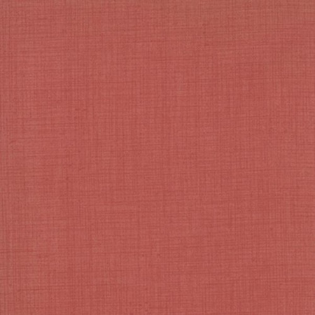 French General Favourites Basics Linen Texture Faded Red 13529-19