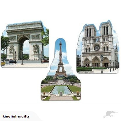 French Monuments cutouts pack of 3