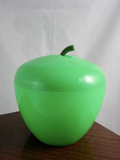 French Vintage Green Apple Plastic Ice Bucket