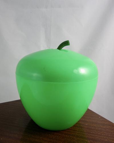 French Vintage Green Apple Plastic Ice Bucket
