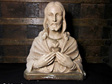 French Vintage Sacred Heart of Jesus Religious Statue