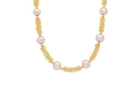 Freshwater Pearl and Citrine Necklace