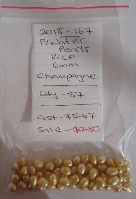Freshwater Pearls - Rice - Champagne