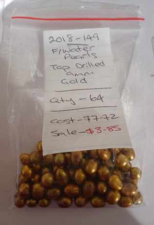 Freshwater Pearls - Top Drilled - Gold