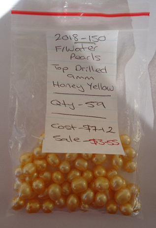 Freshwater Pearls - Top Drilled - Honey Yellow