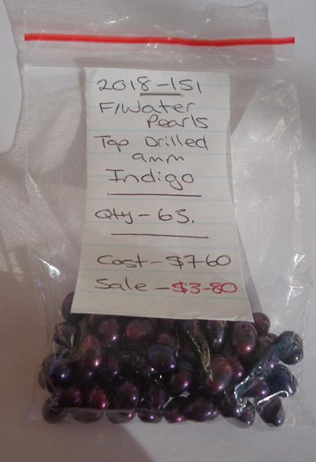 Freshwater Pearls - Top Drilled - Indigo