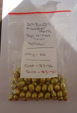 Freshwater Pearls - Top Drilled - Yellow
