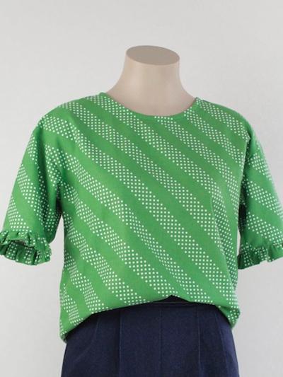 Frill sleeve top, spot