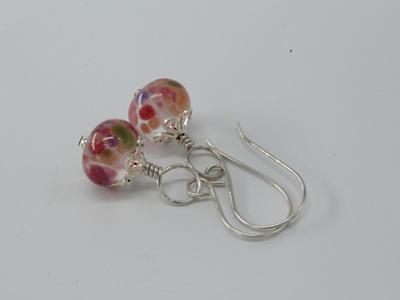 Frit earrings - gypsy skirt on clear