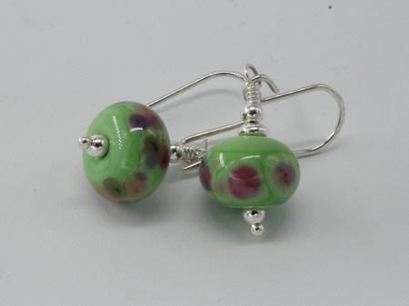 Frit earrings - gypsy skirt on nile green