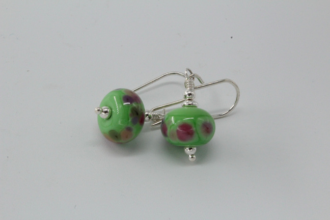 Frit earrings - gypsy skirt on nile green