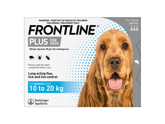 FRONTLINE PLUS for Dogs - 10.1-20kg