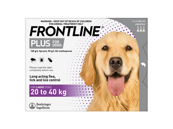 FRONTLINE PLUS for Dogs - 20.1 - 40kg