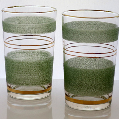 Frosted tumblers