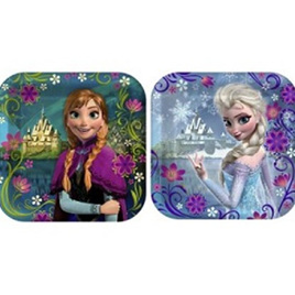 Frozen 7 inch Lunch Plates x 8