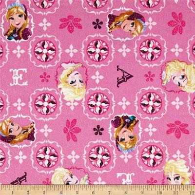 Frozen - Elsa & Ana Pink Glitter