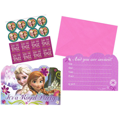 Frozen Invitations x 8