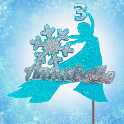 Frozen Snowflake Cake Topper Personalised