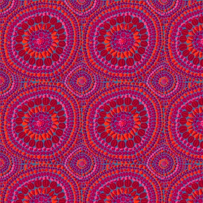 Fruit Mandala Pink - Extra Wide Backer