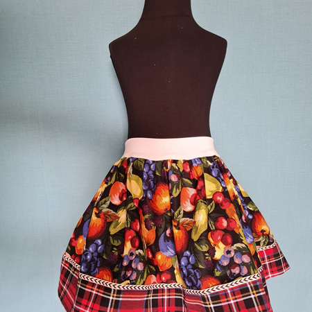 Fruit & Plaid Skirt Size 3-5