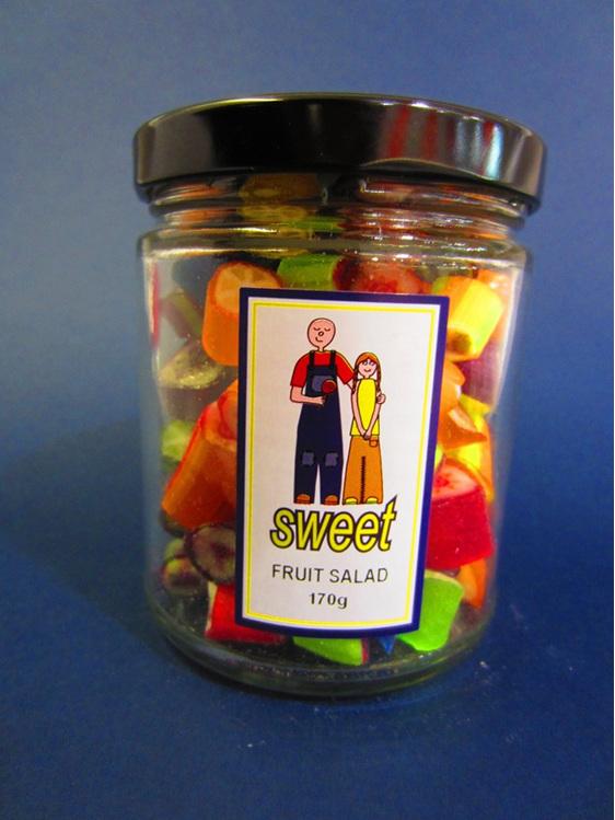 fruit salad rock jar
