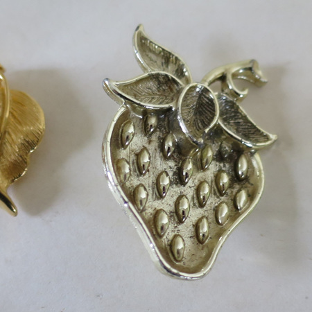 Fruit shaped brooches