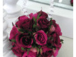 Fuchsia pink rose ball on crystal hanger 600