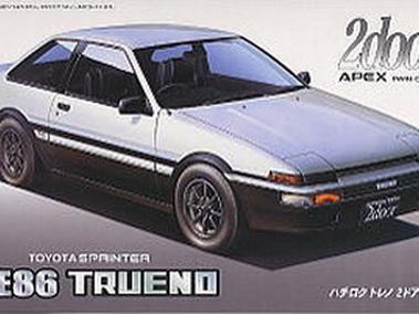 Fujimi 1/24 ID-57 Toyota AE86 Trueno 2 door GT Apex LateType85