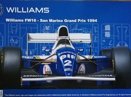 Fujimi 1/20 Williams FW16 San Marino GP 1994 w/Finishers Blue Paint (FUJ090696)