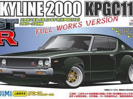 Fujimi 1/24 03803 NIssan Skyline GT-R Full Works Over Fender