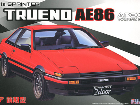 Fujimi 1/24 Toyota AE86 Trueno 2 Door GT APEX Early production
