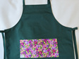 Full Apron Green Floral
