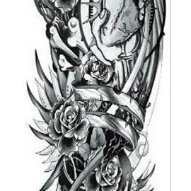 Full Sleeve Temporary Tattoo Sticker 48cmX17cm