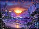 Ravensburger 1500 Piece  Jigsaw Puzzle: Sunrise In Paradise