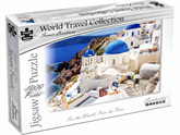 Puzzle Master World Travel Collection 1000 Piece Jigsaw Puzzle: Santorini Greece
