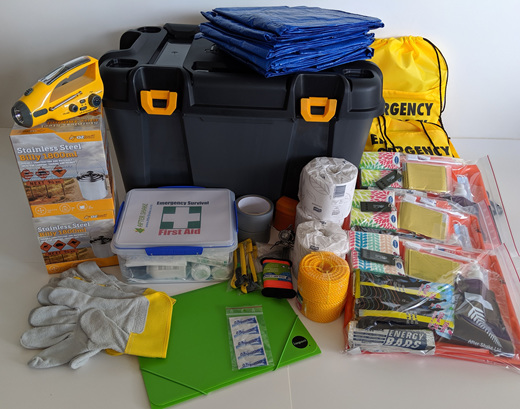 Fully Comprehensive Emergency Kits - Delivered Free