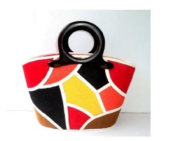 Fun Bag - red w/ multi-colours