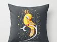 Funky cushion cover for kids room - bird