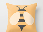 Funky cushion cover for kids room - Bumble Bee