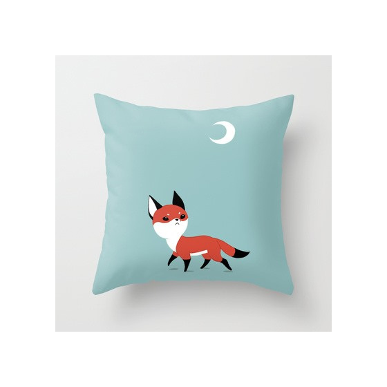 Funky cushion cover for kids room - fox